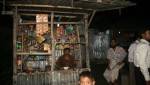 solar lighting at rural shop